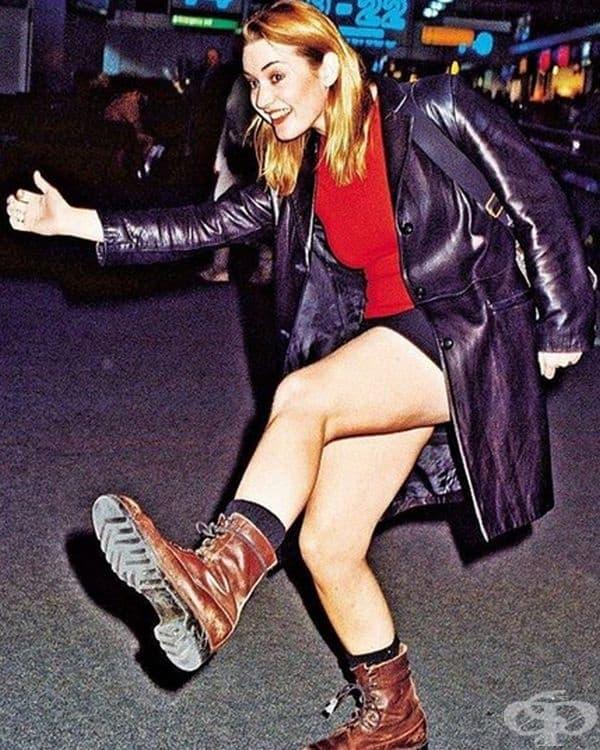 Кейт Уинслет напуска летище Хийтроу, за да се върне в Ню Йорк през 1998 година.