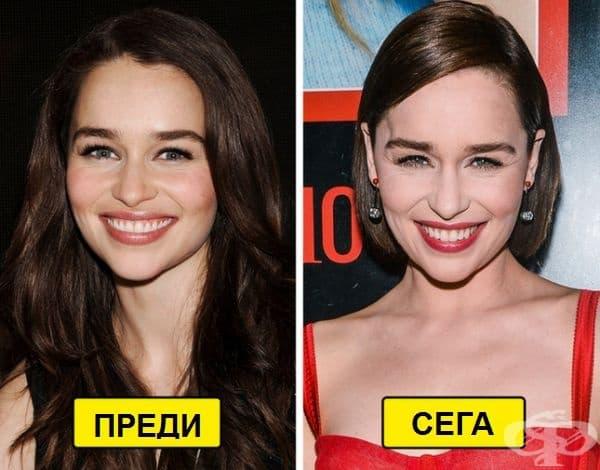Погледът на Емилия Кларк може да се промени, но усмивката й винаги ще бъде същата.