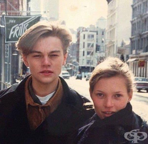 Леонардо ди Каприо и Кейт Мос през 1993 г.