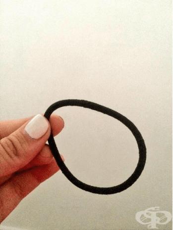 Когато имаме само един ластик за коса и се грижим за него като за малко дете