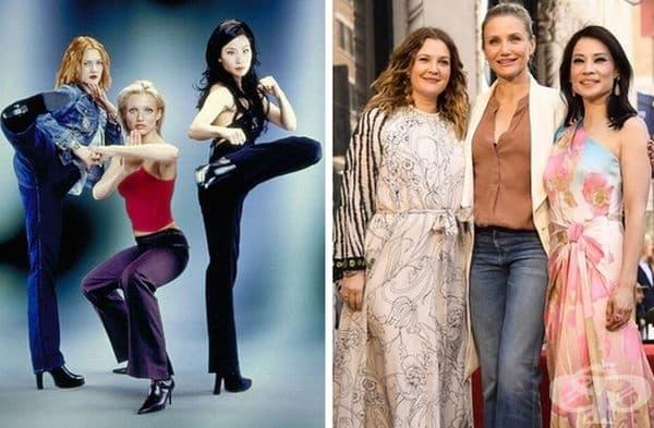 """""""Ангелите на Чарли"""", 2000 и 2019 г. Наскоро Люси Лю се сдоби със звезда на Холивудската алея на славата. Дрю Баримор и Камерън Диас излязоха да я поздравят. Люси написа в своя Instagram: """"Преди 20 г. създадохме елитен екип за борба с престъпността."""""""