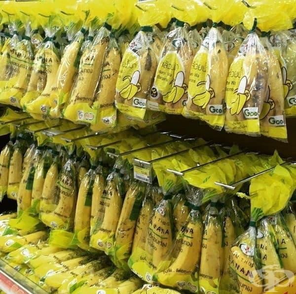 Ето как се предлагат бананите в Тайланд.