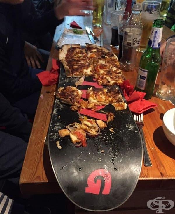 Пица на сноуборд.