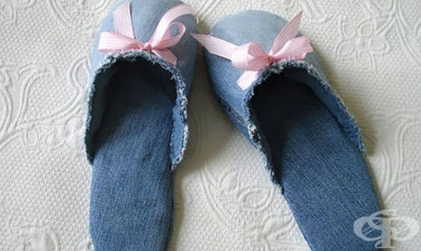 Дънкови пантофи.