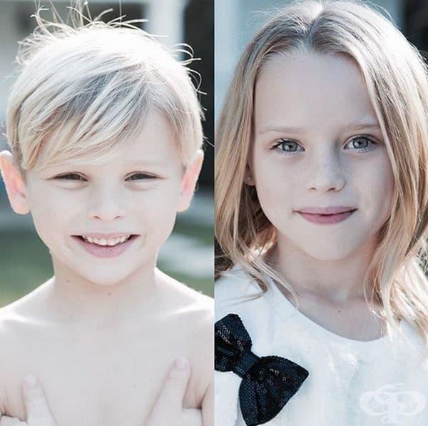 Неговите деца - Ава Вероника и Дашиъл Орсън