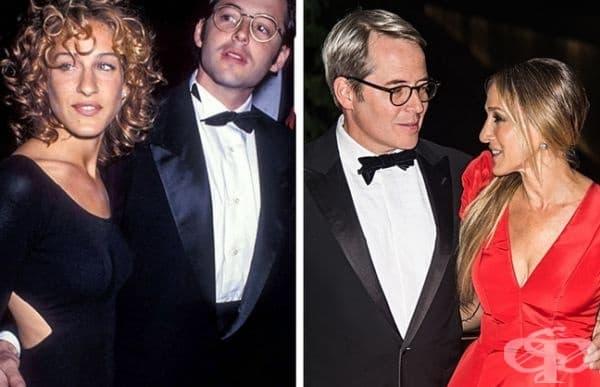 Сара Джесика Паркър: 21 години брак. Сара се среща с Матю Бродерик на парти в Ню Йорк през 1991 г. 6 години по-късно се женят. Актрисата смята, че партньорите трябва да се уважават и да не се конкурират, за да имат дълготрайни и здрави взаимоотношения.