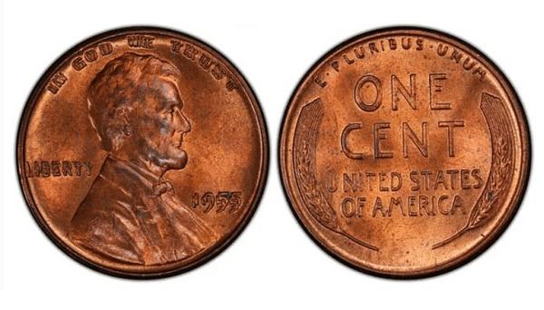 Цент с Линкълн и жито с двойно изображение. Цена до 50 000 $. Грешката е направена по време на нощна смяна, но никой не е забелязал и монетите са били пуснати в обращение. Имало е 24 000, но сега са останали едва 15 000.