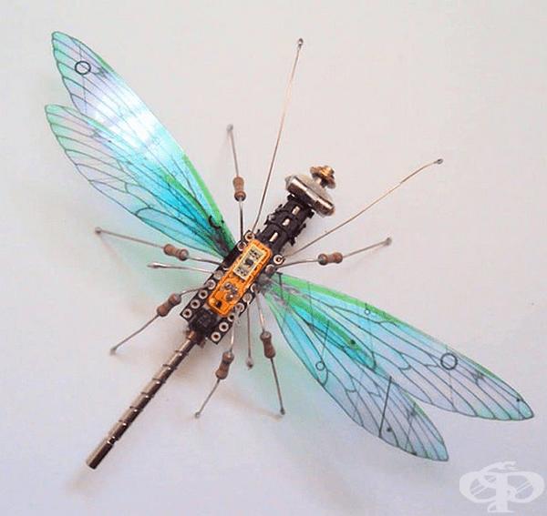 Чапел използва своя талант от една страна, за да създаде тези деликатни и завладяващи скулптури на насекоми.