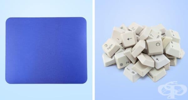 Подложки за мишка и клавиши на клавиатурата. Клавишите на клавиатурата е желателно да се поставят в специална торбичка или калъфка за възглавници. Изберете деликатен режим с топла вода. Подсушете артикулите на открито.