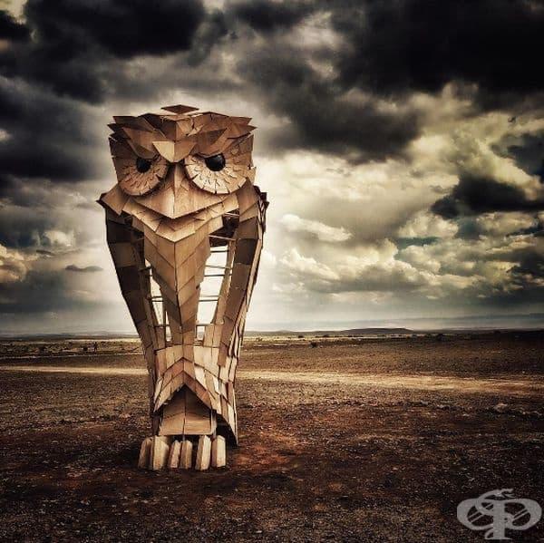 """""""Бухалът Ухлу"""" (Каро): Това е една от най-впечатляващите скулптури на африканския артист."""