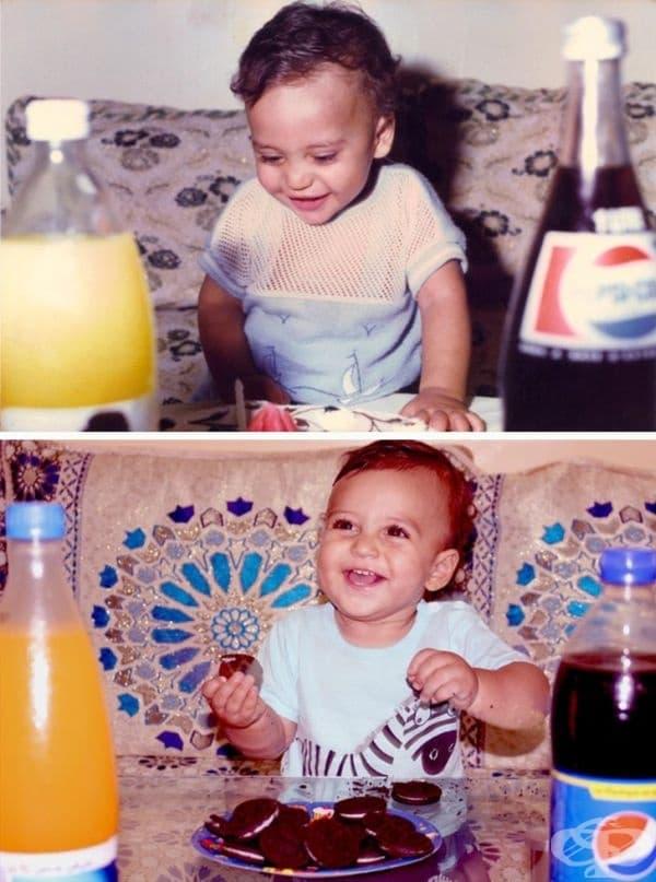 Моят първи рожден ден (1986) и първият рожден ден на моя син (2018).