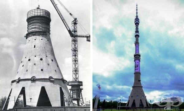 Кулата Останкино, Москва, Русия. Строителство: 1960-1967 г.