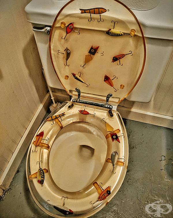 Тоалетна седалка за рибари.