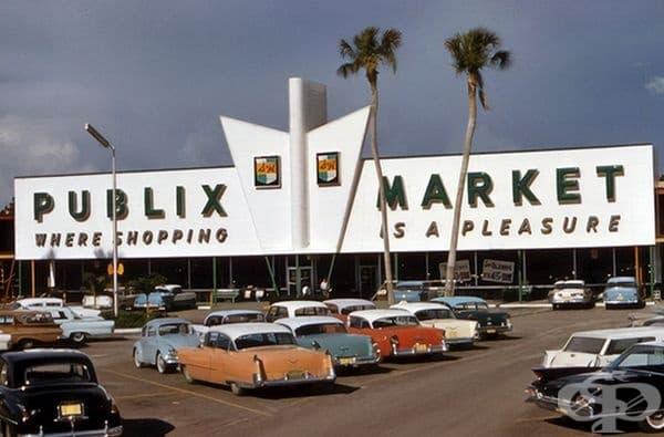 Супермаркет Publix в Сарасота, Флорида, 1961 г.