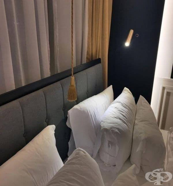 Изключете светлината в стаята с едно дърпане на шнура.