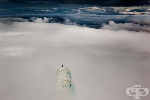 Катерач, достигнал върха, Исландия.