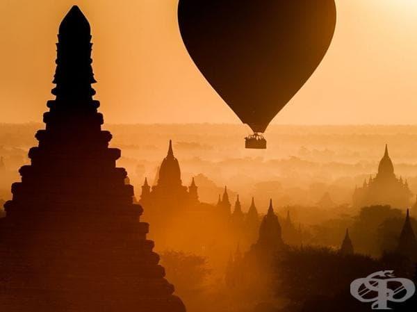 Изгрев в Мианмар.