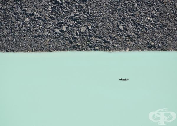 Ледено езеро в Канада.