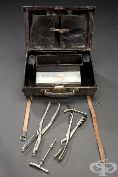 Акушерска чанта от 1871г.