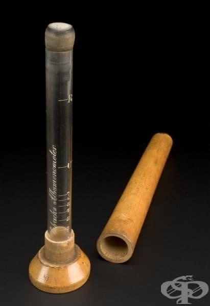 Албуминометърът от снимката по-долу носи името на своя създател - френският лекар Г. Х. Есбах (1843-1890 г.).