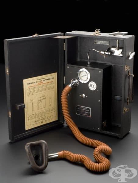 Апарат за прием на упойка, съставена от азотен оксид и въздух