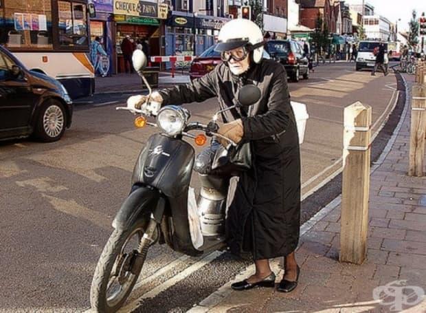 Кой каза, че само младите могат да карат мотоциклет? Не става въпрос за възрастта, а за състоянието на ума.