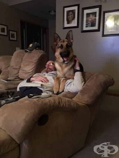 Баща ми не искаше кучето в къщата. Сега са най-добри приятели.