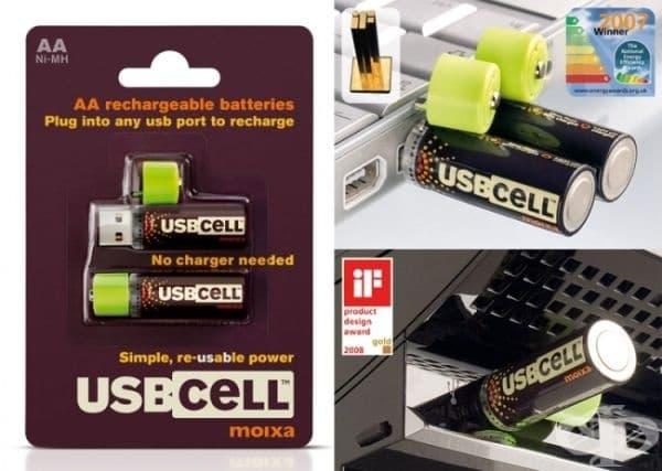 Батерии, които могат да се заредят чрез USB порт.