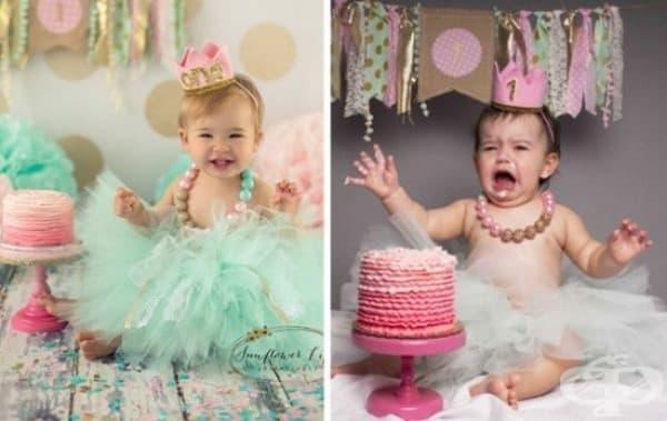 Явно тортата не е по неин вкус