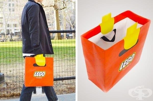Чанта, пренасяща света на Лого по-близо до реалността.