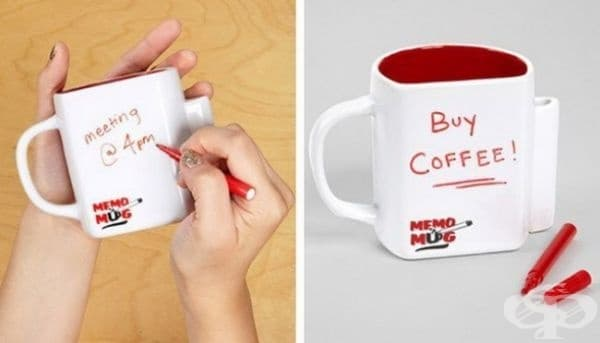 Чаша, върху която могат да се пишат съобщения.