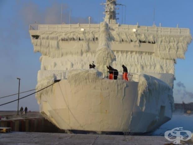 Животът на кораб през зимата