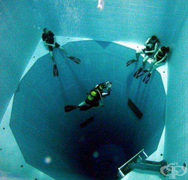Най-дълбокият в света басейн – почти 35 м и е пълен с 2270 куб. м вода