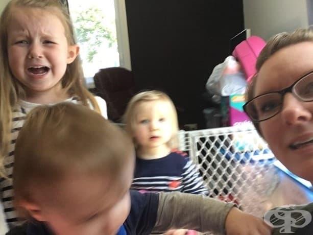 Няма начин да се получи добро селфи с децата