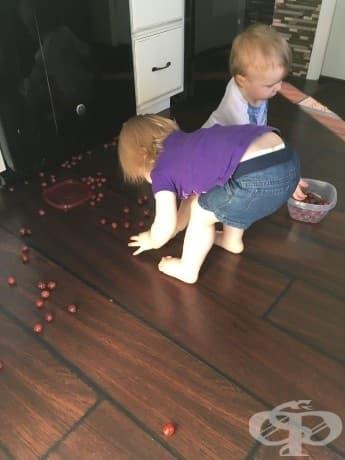 Напускам кухнята за една секунда ...