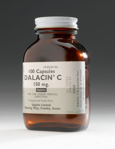 "Антибиотични таблетки ""Далацин"" от 1980 година"
