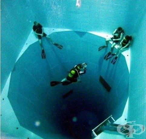 Най-дълбокият басейн в света е с 34м. дълбочина и с капацитет от 2,5 милиона литра