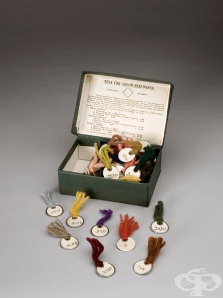 Тест на Холмгрем, използван в Европа в периода от 1871 година до 1900 година, снимка: Science Museum London