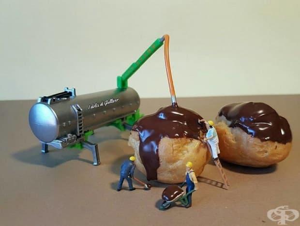 Италиански майстор сладкар превръща десертите в миниатюрни светове