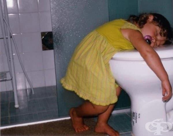 Да отидеш до тоалетната е толкова изморяващо.