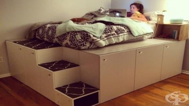 Легло с платформа - използвайте това пространство правилно!