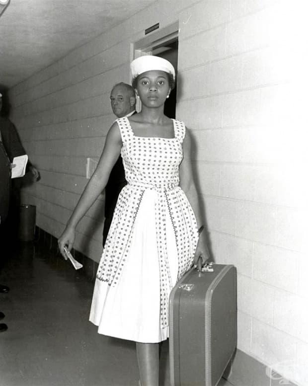 Активистката, бореща се за правото на глас на чернокожите, Ани Лъмпкин в затвора в Литъл Рок (10 юли 1961)
