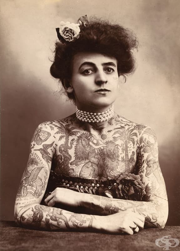 Мод Стивънс Уагнър е първата известна жена татуист в САЩ (1907)