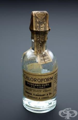 """Хлороформ, произведен от компания """"Duncan Flockhart & Co Ltd"""" през 1847 година"""