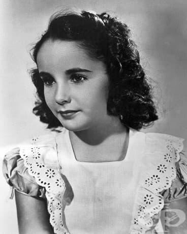 7-годишната Елизабет Тейлър, 1939.