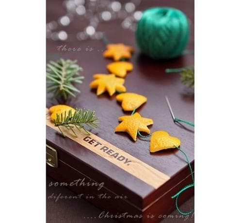 Още вдъхновение за естествена празнична украса с портокали и мандарини