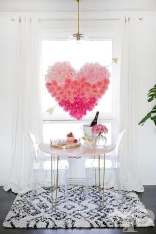 Висящо сърце от цветя