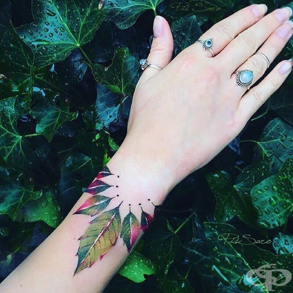 Флорални татуировки – истинско произведение на изкуството