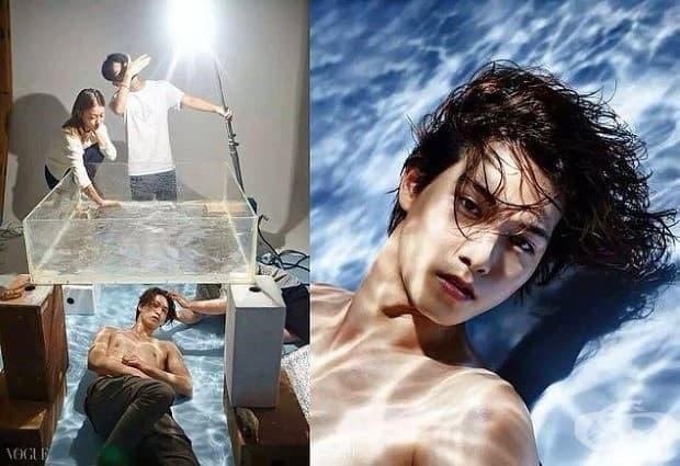 Изглежда, че снимката е заснета под водата. Но това не е така.