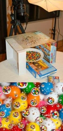 Можете да направите мини бонбони с водни капки.